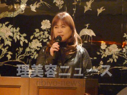 第30回横田富佐子杯ブライダルコンテストを発表する横田勢津子会長