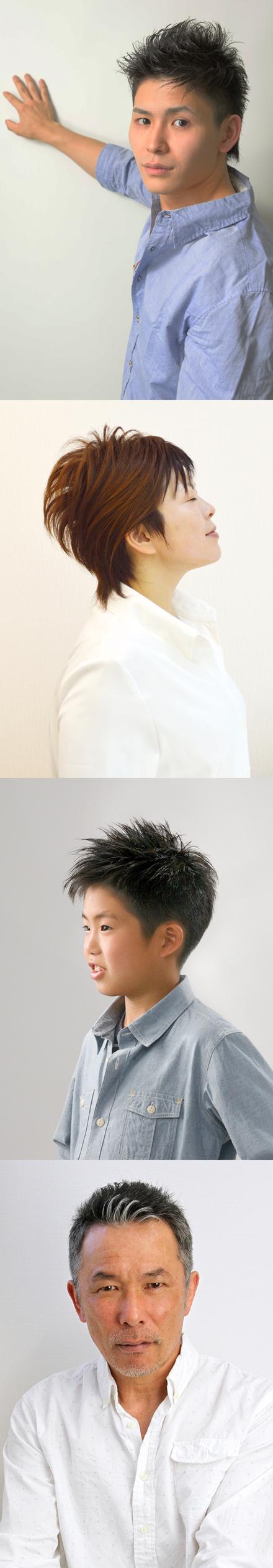 「2013 クールビズヘア」の最優秀賞作品と優秀賞作品