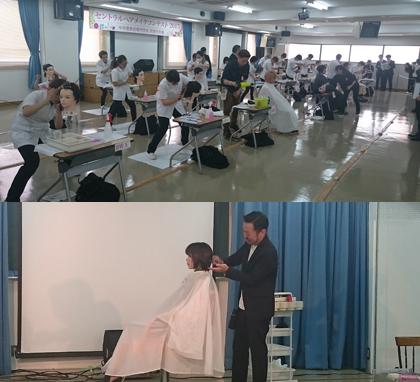 コンテストの模様と、鈴木貞一郎FACEDECO総店長のセミナー・ショー