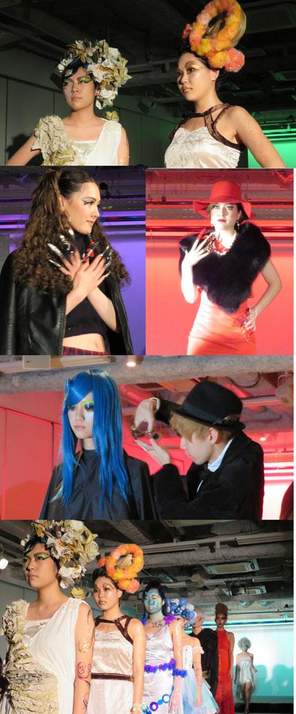 「memorie」をテーマに行われた岩谷学園アーティスティックB横浜美容専門学校の作品発表会