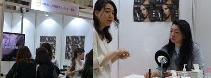 日本眉毛エクステンション協会のブース(ビューティーワールドジャパン2017)