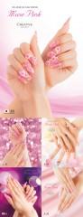 2018SSネイルトレンド「Muse Pink(ミューズピンク)」のメインテーマ作品と4つのバリエーション作品。作品はいづれもクリエイティブ。このほかサロンで応用しやすいアレンジスタイルがある。(写真提供/NPO法人 日本ネイリスト協会)
