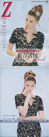 機関誌「ZENBI」スペシャル号(上)と、三つ折りパンフレット
