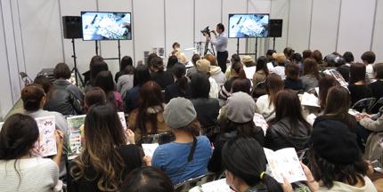 満席のTAKESHI講師の「きまぐれキャット」セミナー(東京ネイルエキスポ2017)