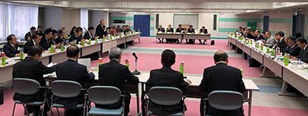 令和元年度第6回全理連理事会(会場は、全理連ビル9階)