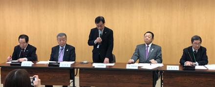 日本理容美容教育センターの会見(会場は、東京・代々木の日本理容美容教育センター会議室)