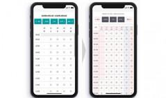 カレンダー画面の新旧変化